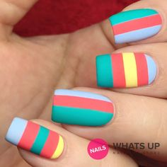 Wide Straight Tape for Nail Art, Striping Tape for Nails, Nail Vinyls - Large (180 Strips) : Beauty