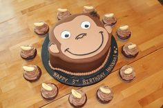Image detail for -Curious George Birthday Cake with Cupcakes « Divine Cake Designs