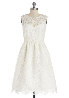 Seaside Ceremony Dress, #ModCloth  I can just imagine this for a simple, informal garden wedding !