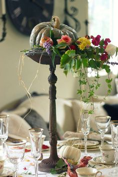 Harvest centerpiece.