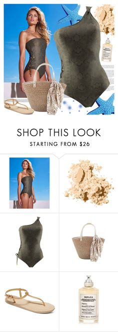 """Cobra One-Piece Swimsuit"" by ani-ani-beachwear ❤ liked on Polyvore featuring Bobbi Brown Cosmetics, Roxy, Maison Margiela, swimwear, beachwear, resortwear, luxury and aniani"
