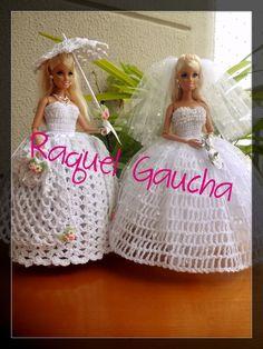#EuroRomaFiore #EuroRomaEspecial5 #Crochet #Noiva #Antigo #Umbrella #Purse Paragua #Sombrinha #Barbie Muñeca #Doll #RaquelGaucha