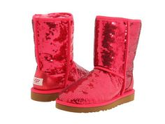 red shiny uggs