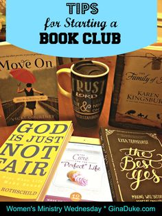 There are soooo many MUST-READ books on my list right now.  What about you?  Hosting a BOOK CLUB can give your women's ministry an up-to-date look when you focus on today's most popular Christian author's latest releases!    Here are some tips to get you started.  Click or go to GinaDuke.com.