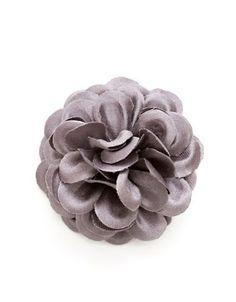 Hook + Albert Lapel Flower Pin Men's Grey