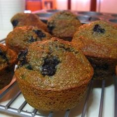 Low-Fat Blueberry Bran Muffins Recipe - 2 Points each