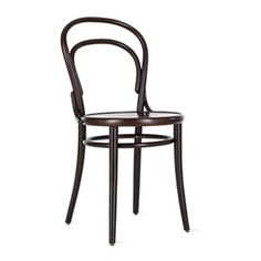 $150 wood chair in coffee finish Era Chair designed by Thonet for downstairs dining chairs