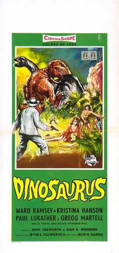 Italian poster for DINOSAURUS! (1960)