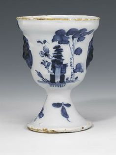 London delft small vase 1750