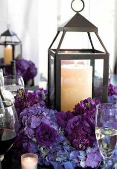 Love this idea for table center pieces