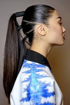 33 Upgraded Ponytail Hairstyles That Take Your Updo to the Next Level - theFashionSpot Long Hair Ponytail, Sleek Ponytail, Ponytail Hairstyles, Girl Hairstyles, Fun Ponytails, Ponytail Styles, Curly Hair Styles, Ponytail Ideas, Cool Hairstyles For Girls