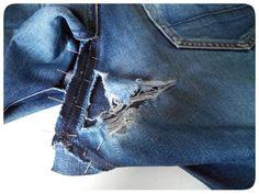 Let's Keep Sewing - Super tuto pour réparer un fond de jean déchiré --> Testé et approuvé !