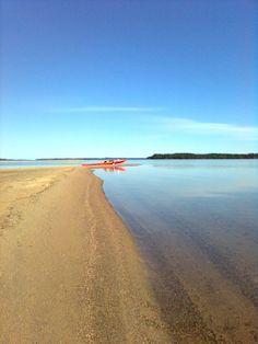 Paddling on Lake Puruvesi/Finland