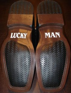 For the groom's shoes