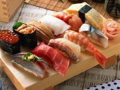 sushi, sashimi.....the best meal you can get if its authentic from Japan.