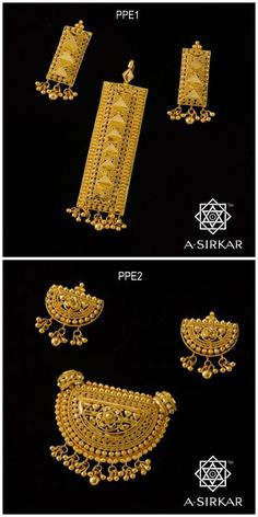 Poshaki Pendant Sets : These two pendant sets are a selection from precisely that cache of useful ornaments that you may consider your 'go to' jewels for all those mid-way occasions that call for a quiet, idoneous presence in lieu of grand statements. The workmanship and styles are suitably different so that you have an idea of the range,and both can be combined with coloured beads, thread gochhas, pearls or even rudrakshas to elicit the effect you desire. Small but serene Poshaki Pendant…