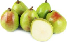 Anjou pears are a medium-sized variety, with a slightly egg-shaped appearance. The green-skinned pears have a short, squat body and almost no neck typical of a pear. The bright green skin is often blushed with a rose flush on the side most exposed to the sun while on the tree. The flesh of the Anjou pear is bright, white and dense with a slightly sweet flavor with subtle notes of citrus. Anjou pears are very juicy when ripe.