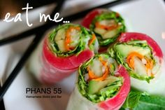 Fresh Rolled Spring Rolls with Ahi Tuna | Sushi | Pinterest