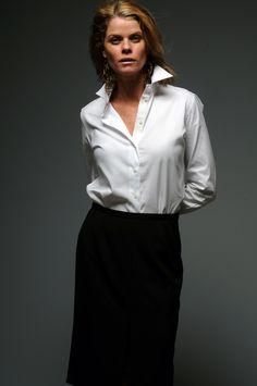 white pinpoint oxford cotton shirt