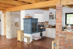 Kitchen Stove, Rocket Stoves, Traditional House, Farmhouse, Cottage, Living Room, Architecture, Wood, Furniture