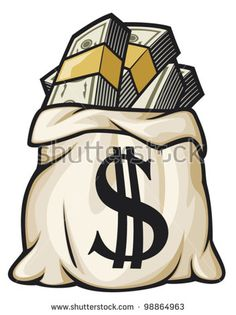 Image result for VINTAGE MONEY  BAGS OF GOLD PICTURE CLIPART