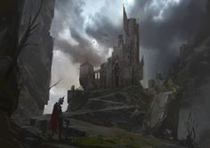 Abandoned castle, Lee b on ArtStation at https://www.artstation.com/artwork/YGqAV