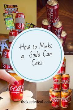 How to Make a Soda Can Cake using a 12 pack of your favorite soda. This is the perfect gift for a soda lover. Best Christmas Gifts, Christmas Photos, Family Christmas, Christmas Traditions, Christmas And New Year, All Things Christmas, Christmas Crafts, Best Gifts, Holiday