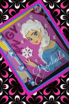 Cuaderno decorado Elsa.