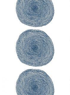 Pippurikerä-kangas (valkoinen,sininen)  Kankaat, Puuvillakankaat   Marimekko