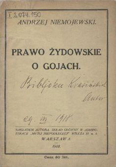 Prawo żydowskie o gjach - Andrzej Niemojewski