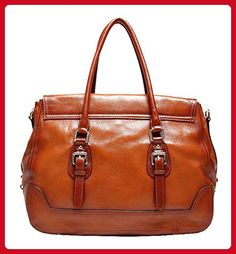 20edef7356d SAIERLONG Women s European And American Style Red brown First Layer Of  Leather Top-handle Tote Shoulder Messenger Bag Cross Body Purse Vintage  Handbag