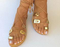 meandro de sandalias sandalias griegos antiguo por chicbelledejour