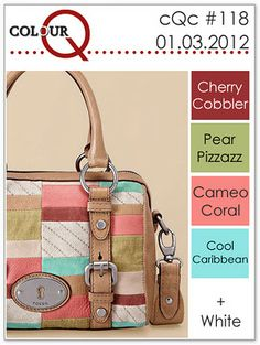 cherry cobbler, pear pizzazz, cameo coral, cool carribian