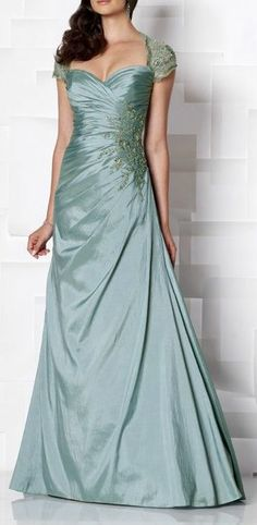 gorgeous evening dress!   Cameron Blake Dark Aqua Dress