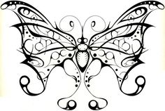 Desenhos para tatuagens de borboletas1