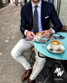 Men's Fashion – How to Nail Office wear Suit Fashion, Fashion Outfits, Suit Combinations, Wool Tie, Herren Outfit, Velvet Slippers, Dapper Men, Latest Mens Fashion, Mode Style