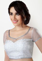 9f4aa09d84d81 Salwar Studio brings to you this stylish silver coloured blouse