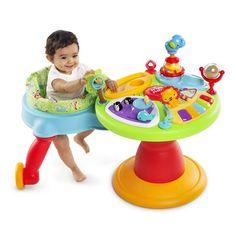Baby Bright Start 3-in-1 Around We Go Educational Developmental Activity Center Musical Walker