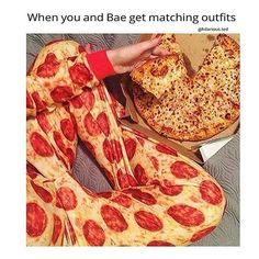 """Pizza's the only bae I need. I keep trying to tell my mom this but she's all like, """"You need to get married!"""" Ugh!!!!"""