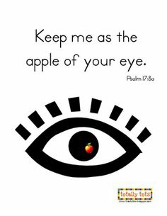 Totally Tots: In My Heart ~ Psalm 17:8...Aa