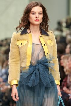 Riz Micha / Birds and Bees 3 inspired by Burberry Prorsum SS 2015 RTW http://fqoto.com/fqoto-ss-2015-037-riz-micha--birds-and-bees-3.html