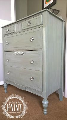 Chest Of Drawers Dresser In General Finishes Milk Paint Basil With Snow White Accent And