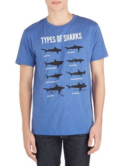 Fin It to Win It Men's Tee. Whether your best guy is a marine biologist, shark enthusiast, or a lover of puns, weve got a winning top for him. #blue #modcloth