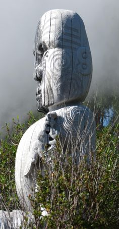 Rotorua is the home of Maori culture in New Zealand and the intricately carved statues are everywhere.