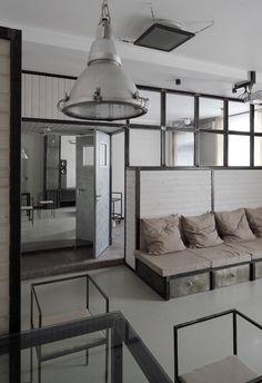 Machine-Age Apartment: Modern Black Steel & Plush White.