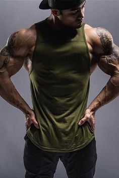 Wolf workout tank tops for men sport bodybuilding gym wear Gym Tank Tops, Workout Tank Tops, Men's Tanks, Mens Fitness, Fitness Style, Fitness Apparel, Gym Wear, Army Green, Sport Outfits