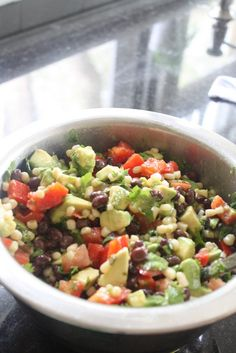 Black Bean, Corn, Avocado Salsa