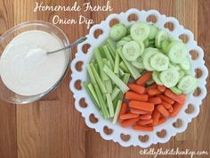 Homemade French Onion Dip: All the flavor, no junky ingredients!