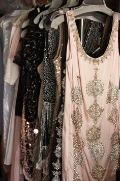 I love these dresses! I know the beading must have been tedious but so worth it!