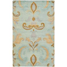Amazon.com - Safavieh Soho Savannah Wool Rug, Light Blue/Multi-Color - Area Rugs
